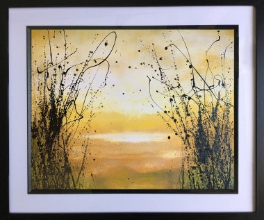 Yellow landscape painting