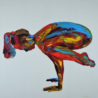 Yoga Pose Nude Woman Hand Stand 829