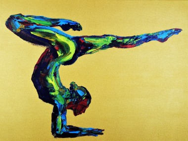 Yoga Pose Nude Woman Scorpion 861