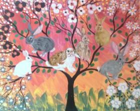 The Colourful Bunny Rabbit Tree