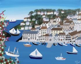 Contemporary harbour painting