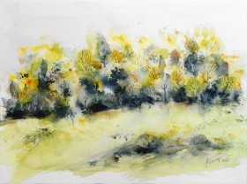 Summer Forest - original watercolor painting on paper