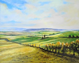 fields, sunlight and shadow, summer, affordable oil painting, peaceful. clouds,