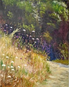 Summer, willdflowers walks. affordable art, peaceful, landscape.