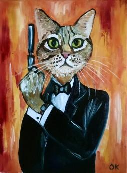 Cat James Bond