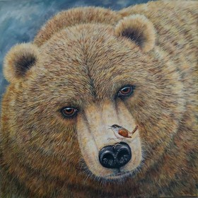 Grizzly bear full on