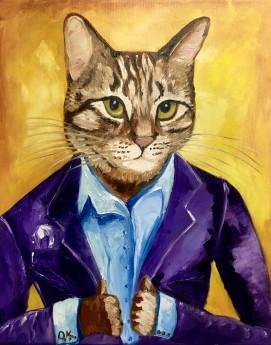 Cat in a suit