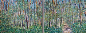Lockdown Woods Walk painting for sale