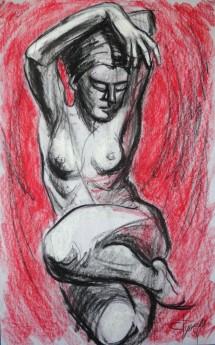 frontal nude figure