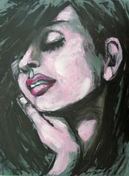 melancholic woman portrait