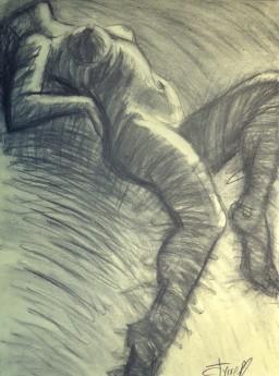 lying down female nude