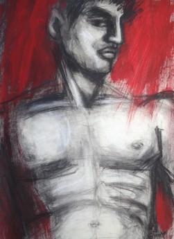 frontal man torso