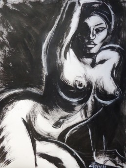 monochrome painting