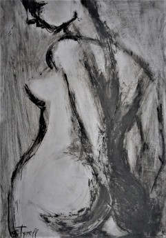 monochrome female nude
