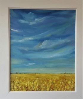 Golden fields and Blue Skies