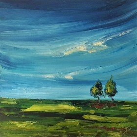 Two Trees in a Green Field