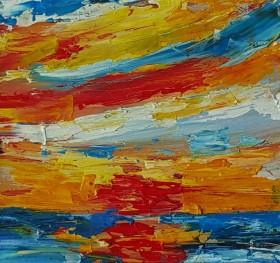 Sunrise Sea Abstraction