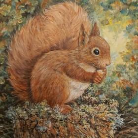 Squirrel full view.