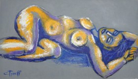painting female nude lying down