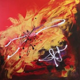 red cvanvas art