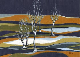 Early Snow acrylic painting