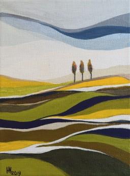 Summer Rhapsody acrylic painting on canvas