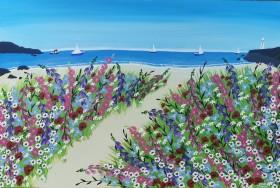 Contemporary Cornish beach painting