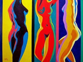 Three Nudes Dancing