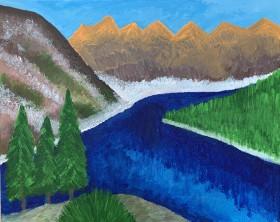 Spring by Mountain Lake