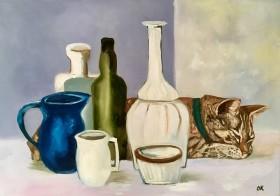 Sleeping Beauty into Giorgio Morandi Bottles