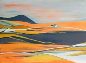 Houses on the Prairie oil on canvas
