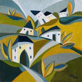 Memory of Home - oil painting on board