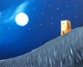 Massive Moon Landing On Glastonbury Tor