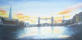 View from the Thames, Olympic Year 2012