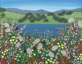 Meadow flowers painting
