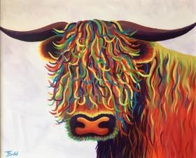 Rainbow Highland Cow