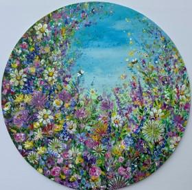 Wild Flower Garden with Bees