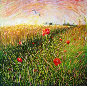 Poppies, Bumblebee, Mouse and Seagull