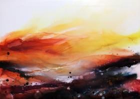 warm glowing landscape