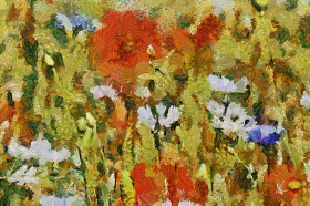 Country field. Abstract