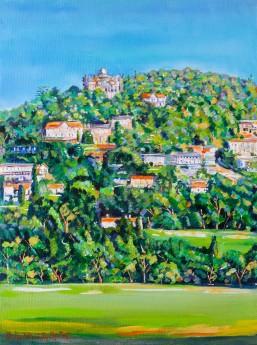 Across The Fields To Penne d'Agenais