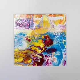An Ocean Tale - Abstract painting-mounted