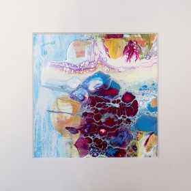 An ocean tale - Octopus, hide and seek - Abstract painting