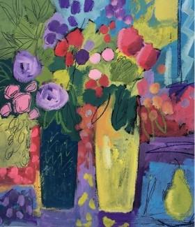 Two Vases of Summer Flowers II
