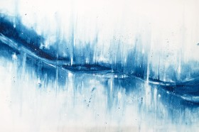 Large blue abstract art