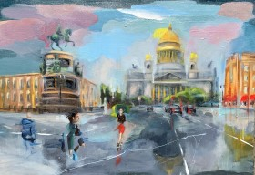 Rainy St Petersburg