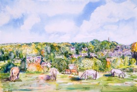 Bisley View painting for sale