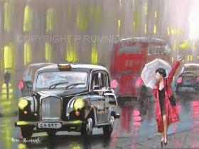 Black Cab Rescue In The Rain