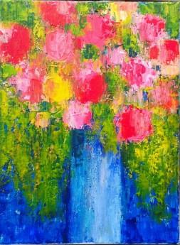 A Bouquet on Blue III