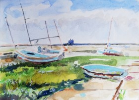 Boats at Blakeney Marsh